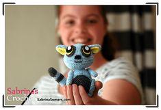 Blue Lemur - Free crochet pattern - Amigurumi