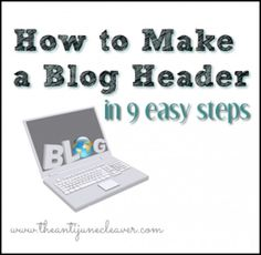 How to make a blog header in 9 easy steps