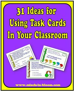 Minds in Bloom: 31 Terrific Ways to Use Task Cards with Your Stude...