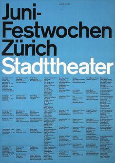 Juni-Festwochen Zürich Stadttheater