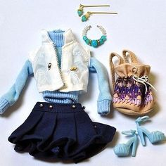 Barbie doll Fashion clothes and handmade jewelry set shoes for barbie dolls 08