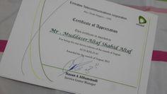 Got certificate.