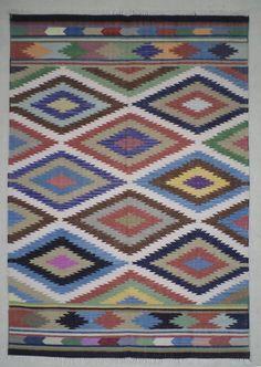 cotton dhurrie rug 4x6 ethnic rug boho rug indian rug flatweave rug handwoven rug boho living