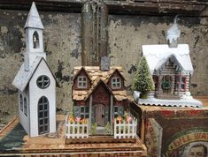 Tim Holtz Village Dwelling Inspiration found on the Sizzix FB Page