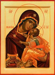 Icon of Our Lady of Tenderness by Yuri Fedorov 2006 Religious Icons, Religious Art, Blacks In The Bible, Russian Icons, Byzantine Icons, Madonna And Child, Blessed Virgin Mary, Jesus Cristo, Orthodox Icons