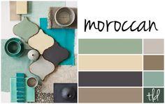 moroccan color scheme - cool colours