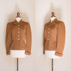 vintage 1940s ParaMont gabardine blazer by inheritedattire
