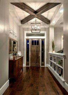 So white trim around dark door and matching flooring...love it!!!