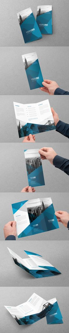 Abstract Architecture Trifold by Abra Design, via Behance