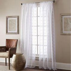 Manhattan Sheer Rod Pocket Window Curtain Panel - BedBathandBeyond.com