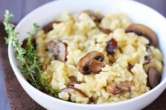 Mushroom Risotto {Gimme Some Oven}