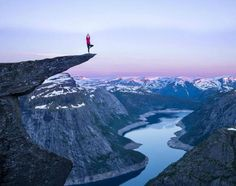 Trolltunga (Norway) - Hike up a rock sticking out of a mountain which is 700 metres high.