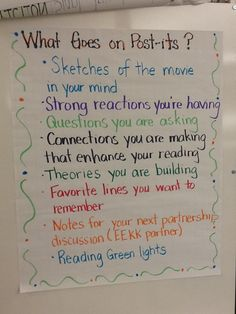 "In this third grade classroom the students are learning to ""stop and jot"" their thinking on post-it notes when reading. They are learning that thinking about what they are reading will help them understand the story better."