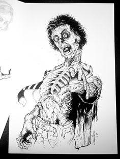 Zombie Sketch Art   zombie sketch by carlosCHAVIRA