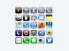 iOS系统图标PSD源文件   蓝调设计