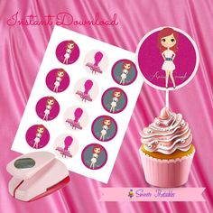"""Ariana Grande Cupcake Toppers,Ariana Grande Gift tags,Ariana Grande Instant Download,Ariana Grande Party Favor, Printable Labels, 2""""inch"""