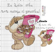 Cross Stitch Boards, Cute Cross Stitch, Cross Stitch Animals, Cross Stitch Designs, Cross Stitch Patterns, Cross Stitching, Cross Stitch Embroidery, Fizzy Moon, Moon Bear