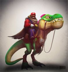 Mario and his trusty Yoshi by DevindraLeonis on deviantART