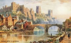 Durham Castle and Cathedral, from the book, Durham, The Postcard Collection, by Michael Richardson Durham Castle, Durham City, Durham England, St Johns College, Durham Cathedral, Uk History, Most Beautiful Cities, Historical Pictures, Countryside