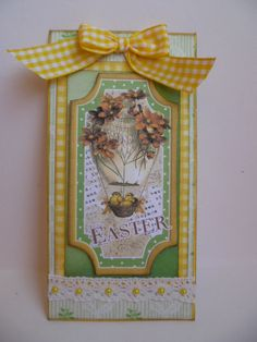 Easter tag using papers and image from the Gecko galz