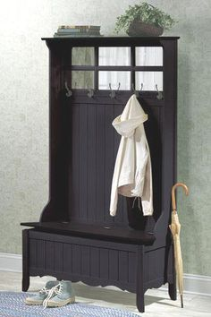 Discover Graceful French Country Style with Our Hall Tree Storage Bench $169