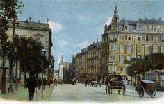 Grimmaischer Steinweg stadtauswärts um 1910