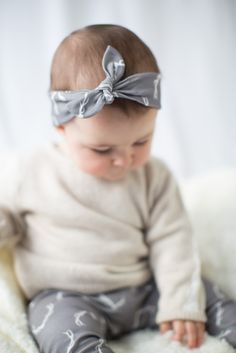 I'm obsessed with cotton baby headbands. I pledge now never to force my daughter to wear a flower on her head that's bigger than her face.