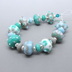 turquoise kralen https://www.etsy.com/listing/185312155/lampwork-bead-set-glass-lampwork-beads