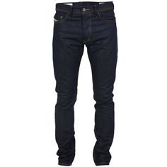 Diesel Tepphar 8y9 Denim Jeans (1.310 ARS) ❤ liked on Polyvore featuring jeans, men, pants, bottoms, guys, slim tapered jeans, button fly jeans, slim jeans, slim fit jeans and diesel jeans