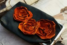 CigaretteEyeglass Case Orange Poppies by TheBohemianGypsy on Etsy