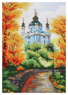 Embroidery. Kit. Beads. Beading. Printed fabric. Canvas. Print on fabric. #embroidery #beads #vdvcreative #вдв