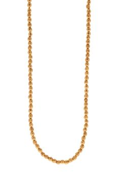 Etna Long Necklace - Super versatile these long strand faceted necklaces can be worn simply on their own or layered together to create a statement look. Mix and Match all the clasps fit into each other with a seamless look. They come in the lengths 16, 18 and 30 inches.  22kt Gold Plating Gold Plating, Gold Necklace, Collections, Necklaces, Create, Fit, Jewelry, Gold Pendant Necklace, Jewlery