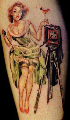 #vintage #pinup #tattoo