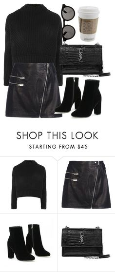 """Untitled #7136"" by laurenmboot ❤ liked on Polyvore featuring Topshop, rag & bone, Yves Saint Laurent and Illesteva"