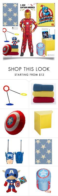"""Captain America: Civil War'"" by dianefantasy ❤ liked on Polyvore featuring interior, interiors, interior design, home, home decor, interior decorating, Vivaraise, H Furniture, Dash & Albert and Funko"