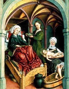 Geburt Mariens, 1480 ; 1490 ; Innsbruck ; Österreich ; Tirol ; Tiroler Landesmuseum Ferdinandeum