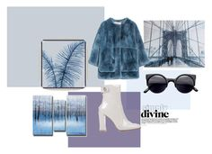 """""""Blue"""" by andreaher on Polyvore featuring Barclay Butera, Graham & Brown, Gianvito Rossi and Marni"""