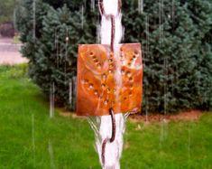 Journey Cloth (Swirling Hand) Copper Rain Chain