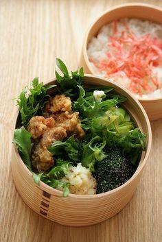 唐揚げ弁  Japanese lunch box