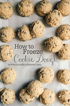 The Foolproof Way to Freeze Cookie Dough - For when that cookie craving strikes!! And you don't want to do dishes!