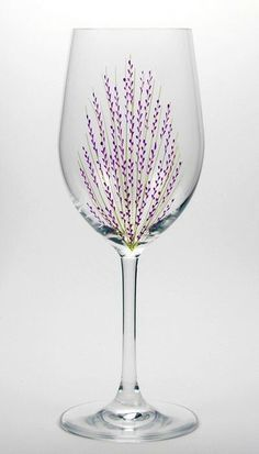 Image result for painted wine glasses trees