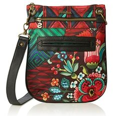 #Desigual Tasche - Modell Bandelora Ikara. Muster: floral, ethnisch, rot.
