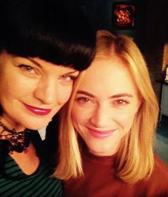 """""""Me and Emily Wickersham on NCIS set today. SHE'S SO GOOD in tonight's new episode!"""""""