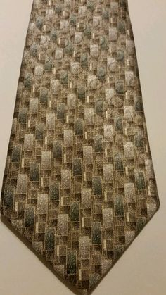 NEW Affordable Stafford Geometric 100% Silk Multi Color Classic Mens Neck Tie #Stafford #NeckTie