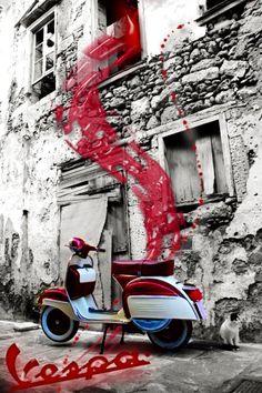 ..._RETRO SCOOTER GARAGE: Purple Vespa #scooter
