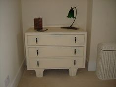 Hand Painted Vintage Art Deco Style Chest of Drawers.