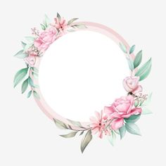 Cute Floral Frame Of Watercolor Flowers For Wedding Invitation Design Vector and PNG Watercolor Flower Background, Flower Background Wallpaper, Wreath Watercolor, Flower Backgrounds, Floral Watercolor, Watercolor Wedding, Frame Floral, Flower Frame, Flower Graphic Design