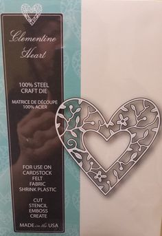 99104 Memory Box 100% Steel Craft Die Clementine Heart