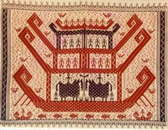 Related image Indonesian Art, Wood Vanity, My Land, Teak Wood, Ikat, Bohemian Rug, Cross Stitch, Arts And Crafts, Textiles
