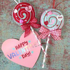 Lollipops Ornaments / Valentine Lollipops / Felt Decorative Lollipops / Set of 2 Lollipops / Sweet Lollipops - Handmade and Design Felt Valentine Box, Valentine Ideas, Mini Albums Scrap, Pencil Toppers, Decorative Bows, Heart Button, Felt Hearts, Lollipops, Valentine Decorations